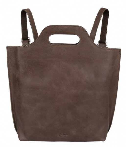 MYOMY  My Carry Bag Back Bag Medium hunter waxy taupe (80891239)