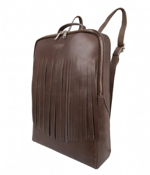 MYOMY  My Gym Bag Back Bag Fringes 13 Inch hunter waxy taupe (25461239)