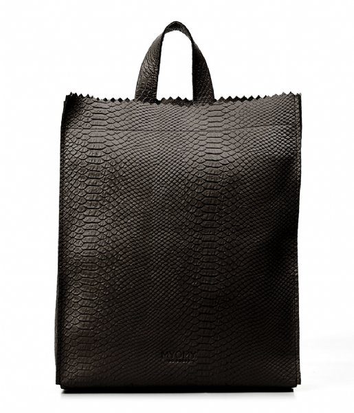 cecfb74671c7 My Paper Bag Back Leather Shoulder Straps anaconda black (10423062 ...