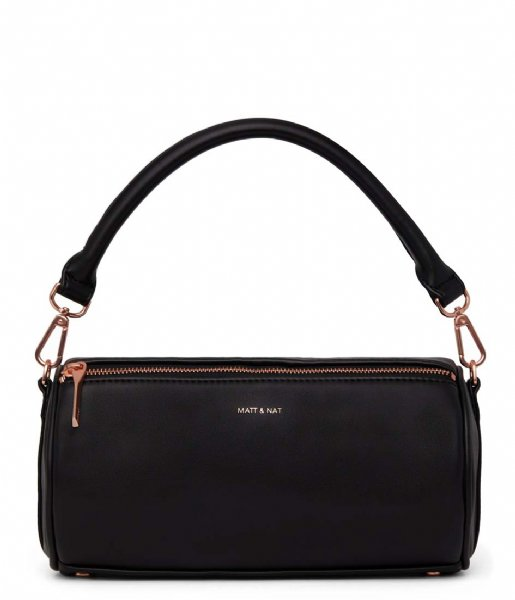 Matt & Nat Handbag Seoul Loom Satchel black rose gold