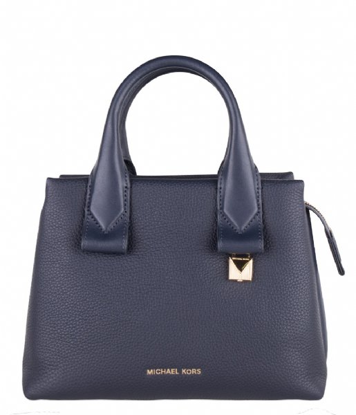 Rollins Small Satchel admiral & gold colored hardware