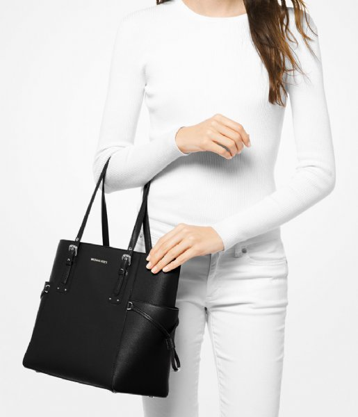 Michael Kors  Voyager EW Signature Tote black & silver colored hardware