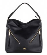 Michael Kors Evie Large Hobo black & gold colored hardware