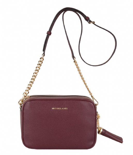 Medium Camera Bag oxblood & gold hardware Michael Kors | The