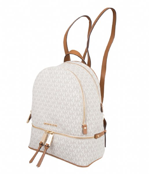 Rhea Zip Medium Backpack vanilla & gold colored hardware