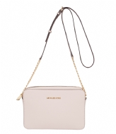 Michael Kors Jet Set Travel Large EW Crossbody soft pink & gold colored hardware