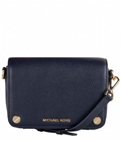 Jet Set Small Full Flap Crossbody admiral & gold colored
