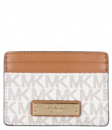 Michael Kors Jet Set Card Holder vanilla & gold hardware