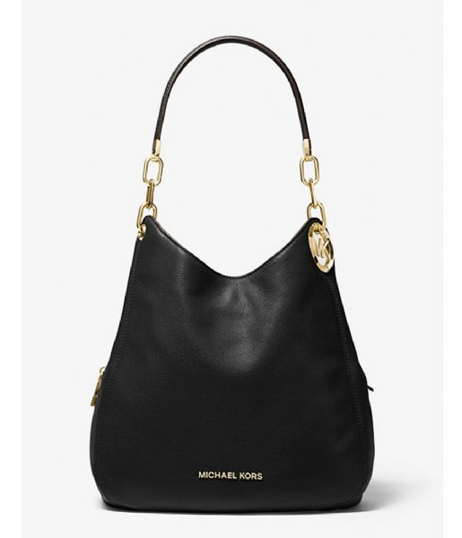 Michael Kors  Lillie Large Chain Shoulder Tote black & gold colored hardware