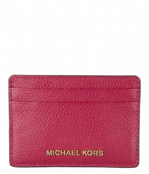 Michael Kors  Card Holder berry & gold colored hardware