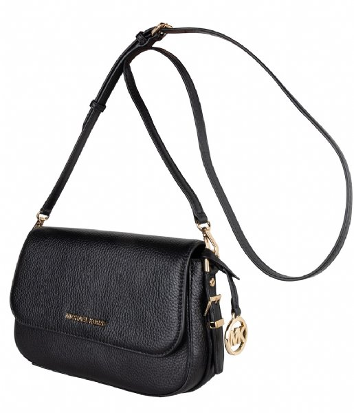 Michael Kors  Large Flap Crossbody black & gold colored hardware