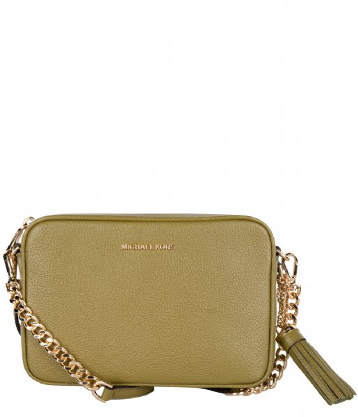 Medium Camera Bag pistachio & gold colored hardware Michael