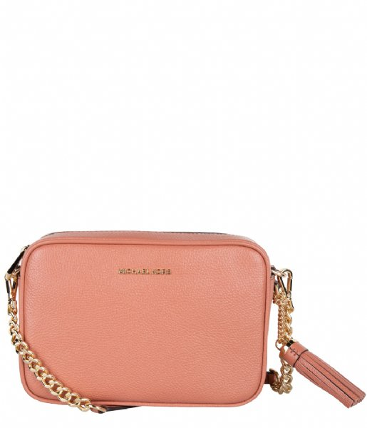 Medium Camera Bag sunset peach & gold colored hardware