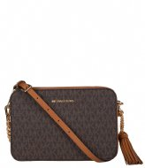 Michael Kors Medium Camera Bag brown & gold colored hardware