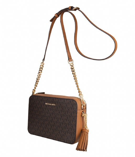 Medium Camera Bag brown & gold colored hardware Michael Kors
