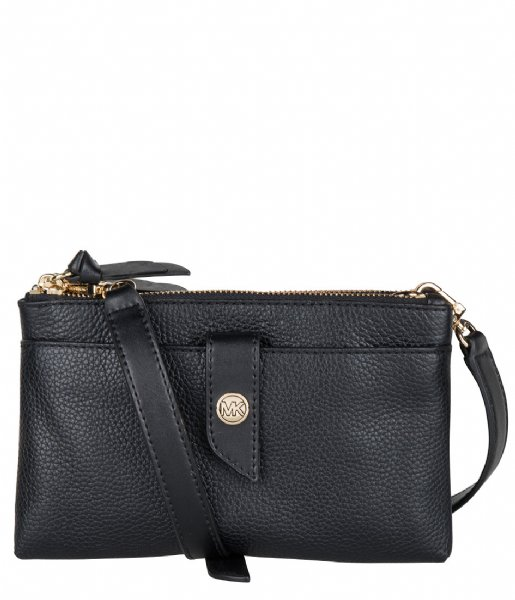 Michael Kors  Medium Tab Double Zip Phone Xbody black