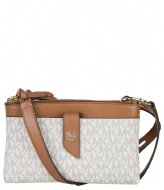 Michael Kors Medium Tab Double Zip Phone Xbody vanilla acorn