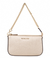 Michael Kors Medium Chain Pouchette pale gold & gold hardware