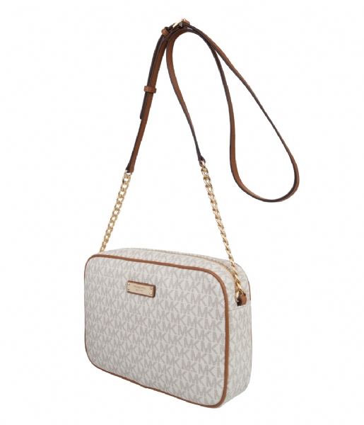 Michael Kors  Jet Set Item Large Crossbody vanilla & gold colored hardware