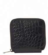O My Bag Sonny Square Wallet Black classic croco