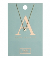 Orelia Necklace Initial A pale gold plated (10366)