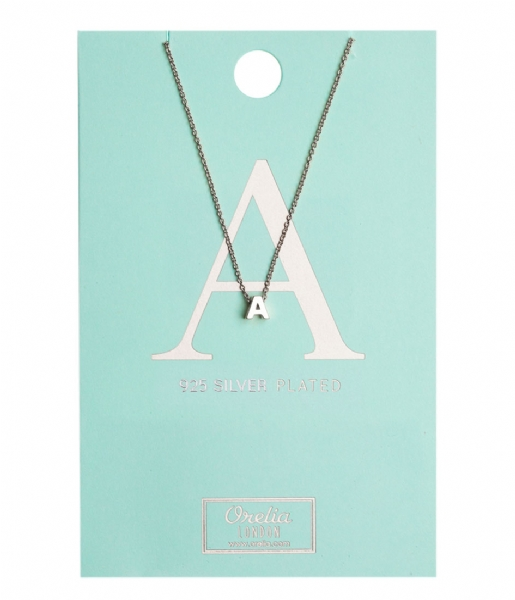 Orelia  Necklace Initial A silver plated (10367)