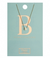 Orelia Necklace Initial B pale gold plated (10752)