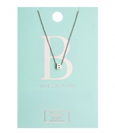 Orelia Necklace Initial B silver plated (20132)