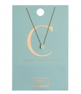 Orelia Necklace Initial C pale gold plated (10363)