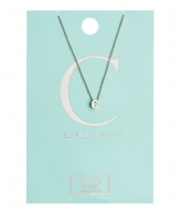Orelia Necklace Initial C silver plated (10364)
