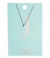 Orelia Necklace Initial J silver (20130)