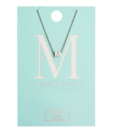 Orelia Necklace Initial M silver plated (10370)