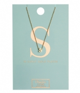 Orelia Necklace Initial S pale gold plated (10378)