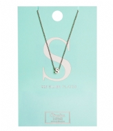 Orelia Necklace Initial S silver plated (10379)
