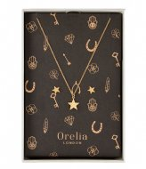 Orelia Brushed Star Giftbox gold plated (22390)