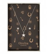 Orelia Brushed Star Giftbox silver plated (22395)