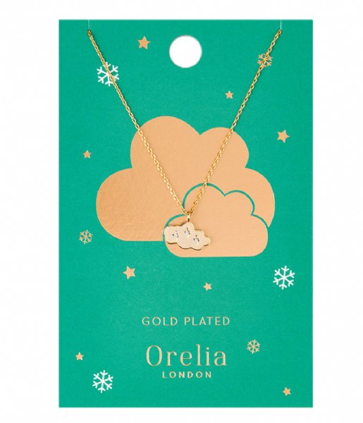 Orelia  Cloud Charm Necklace gold plated (22372)