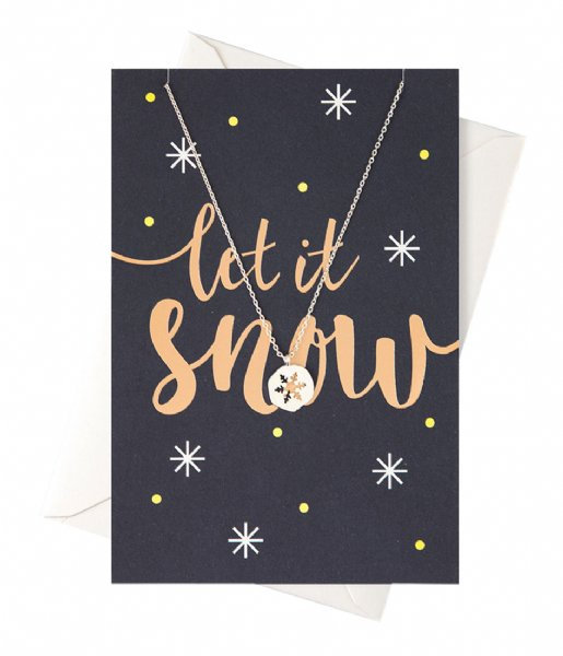 Orelia  Let it snow Giftcard silver plated (22380)