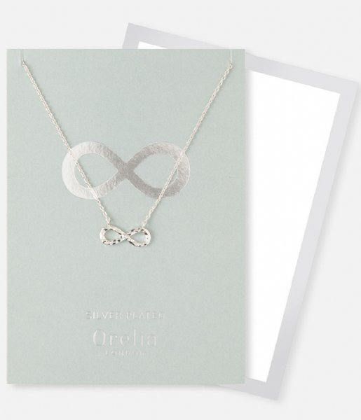 Orelia  Hammered Infinity Gift Envelope silver plated (23180)