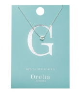 Orelia Necklace Initial G silver plated (21145)