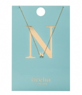 Orelia Necklace Initial N pale gold plated (21150)