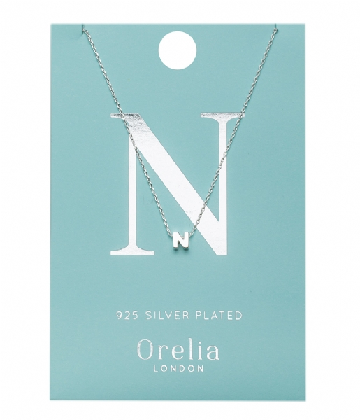 Orelia  Necklace Initial N silver plated (21151)