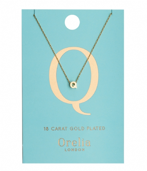 Orelia  Necklace Initial Q pale gold (ORE21156)