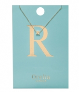 Orelia Necklace Initial R pale gold plated (21158)