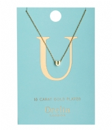 Orelia Necklace Initial U pale gold plated (21162)