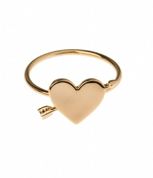 Orelia  Arrow Heart Ring pale gold (ORE20279)