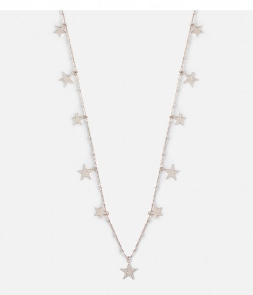 Orelia  Falling Star Rope Necklace silver plated (23349)