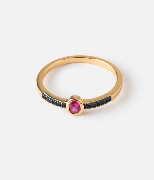 Orelia  Oval Jewel Ring pale gold plated (23353)