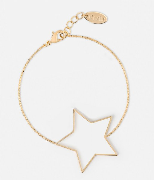 Orelia  Large Open Star Bracelet pale gold plated (23360)