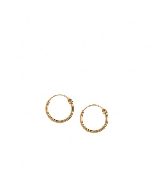 Orelia  Micro Hoop Earrings pale gold plated (9314)